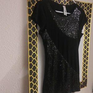 Black Sequence Shirt